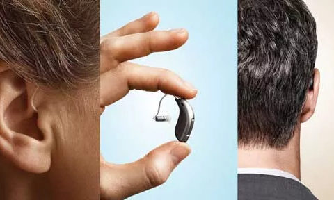 collage of hears and hearing aids